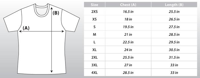 Ultimate Frisbee Jerseys By Atac Sportswear Size Chart